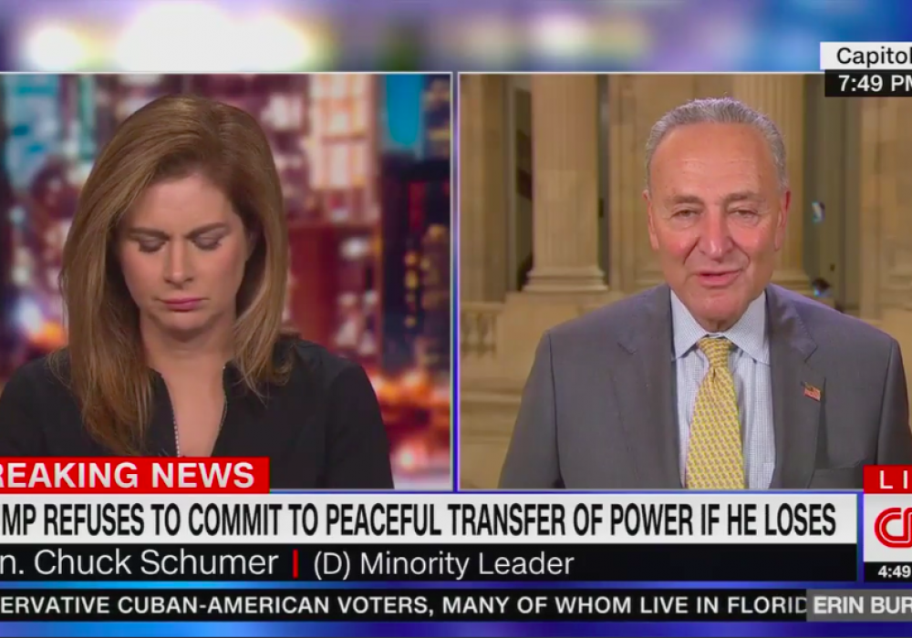 """Schumer on peaceful transfer of power: """"Trump is not a dictator"""" – Axios"""
