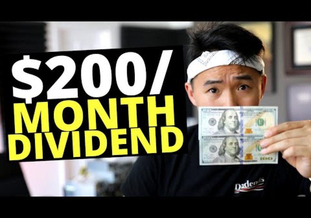 Earning $200/Month Passive Income Dividend Portfolio 2020